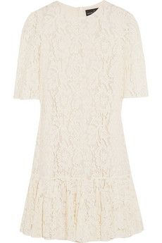 Needle & Thread Ruffled lace dress | NET-A-PORTER