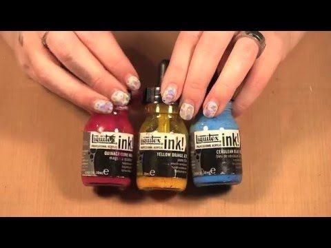 Liquitex Inks over Acrylic Paint - YouTube. It absorbs into paper but glides over gesso and acrylic paint. myb
