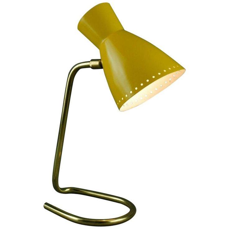 Tubular Brass Metal Desk Lamp Yellow, Metal Desk Lamps Uk