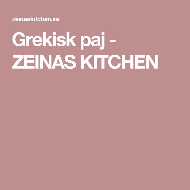 Grekisk paj - ZEINAS KITCHEN