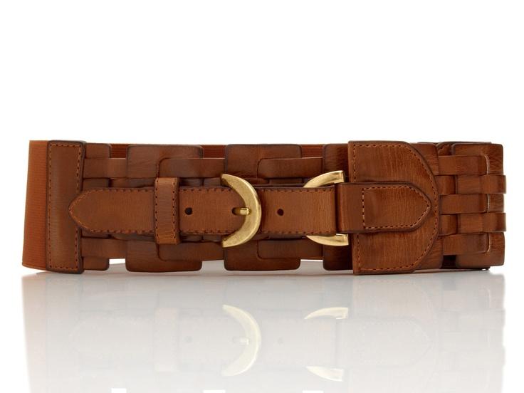 Lattice Woven Stretch Belt by Steve Madden :}