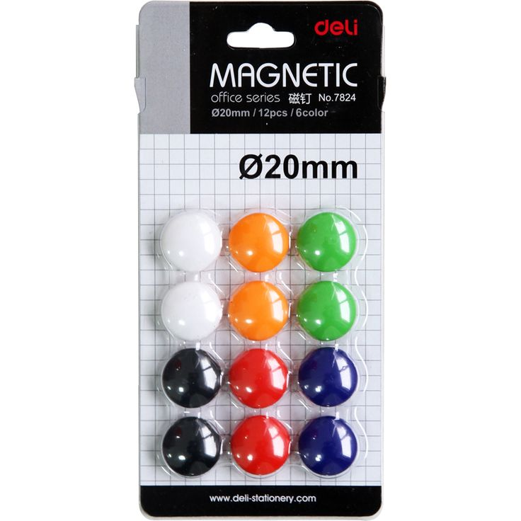Deli merk 7824 whiteboard magnetische nagels, magnetische deeltjes, magnetische knop kantoorbenodigdheden