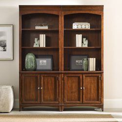 Add a touch of contemporary style to your office with this three shelf bookcase with doors. // 80.5H 3 Shelf Contemporary Bookcase with Doors