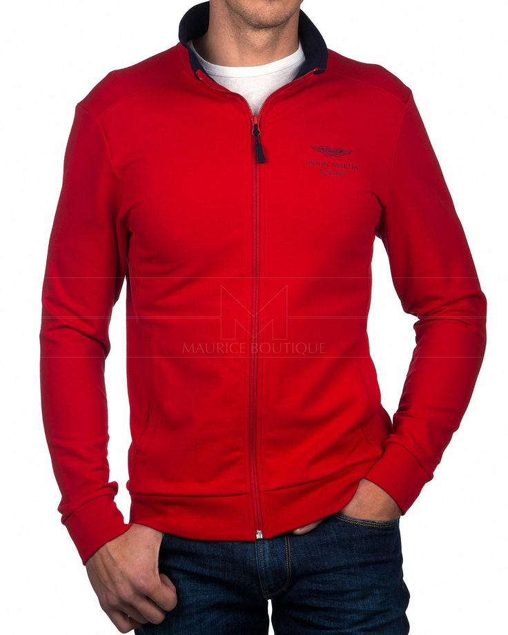 Chaquetas HACKETT ASTON MARTIN ® Felpa ✶ Rojo | ENVIO GRATIS