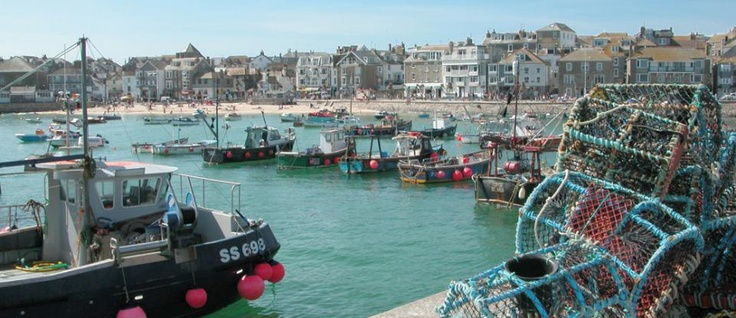 Hotels in Cornwall  http://www.tregenna-castle.co.uk  St Ives harbour