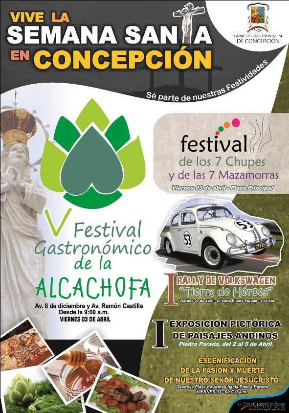 Semana Santa en Concepción - V Festival Gastronómico de la Alcachofa