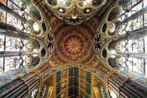 Sanctuary Upshot Saint Mary's Studley Royal, Yorkshire UK by fotofacade, via Flickr