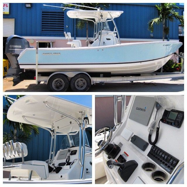 New to Market 24' Regulator Forward Seating 2013 with only 3 hours on her Yamaha 350 Four Stroke. Garmin 8212, Fusion & JL Audio stereo, underwater light and much more. Asking $104,500 and ready for immediate sale. Contact Conrad@denisonyachtsales.com for more info or call 954-336-5732.