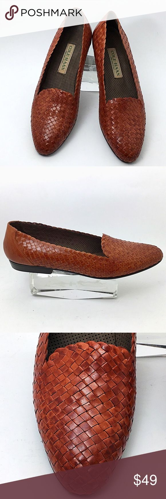 Cole Haan Leather Woven Flats (NWOT) For sale is a striking pair of leather flats by famed designer Cole Haan. Smart woven design gives it a great look for work or play. Condition: New without tags. Original box not included. If requested, I will provide a different box for storage. Cole Haan Shoes Flats & Loafers