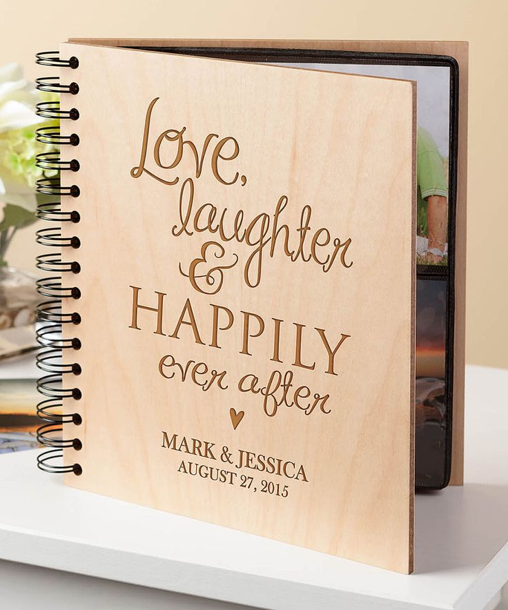 happily ever after wedding invitations%0A This  u    Love  Laughter and Happily Ever After u     Personalized Photo Album by  Personalized Planet