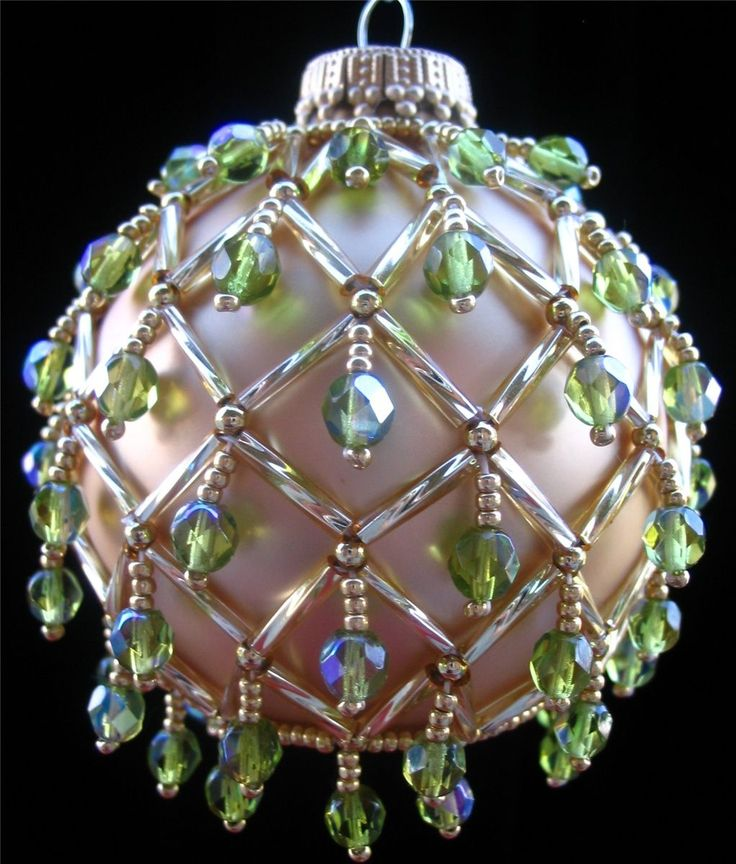 best 25+ beaded christmas ornaments ideas on pinterest | unique