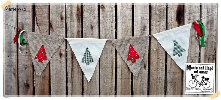 Banderines Rústicos Navidad, $35 en https://ofeliafeliz.com.ar