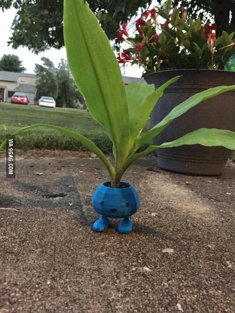 3D printed Oddish planter