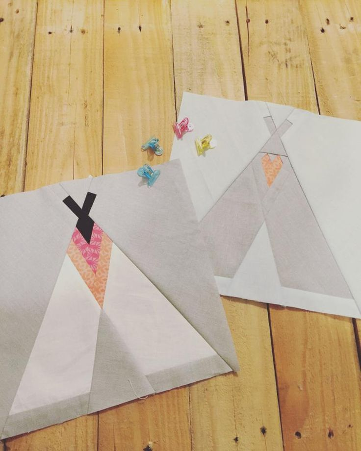 Free Quilt Pattern: Two Teppee's Foundation Paper Piecing Pattern