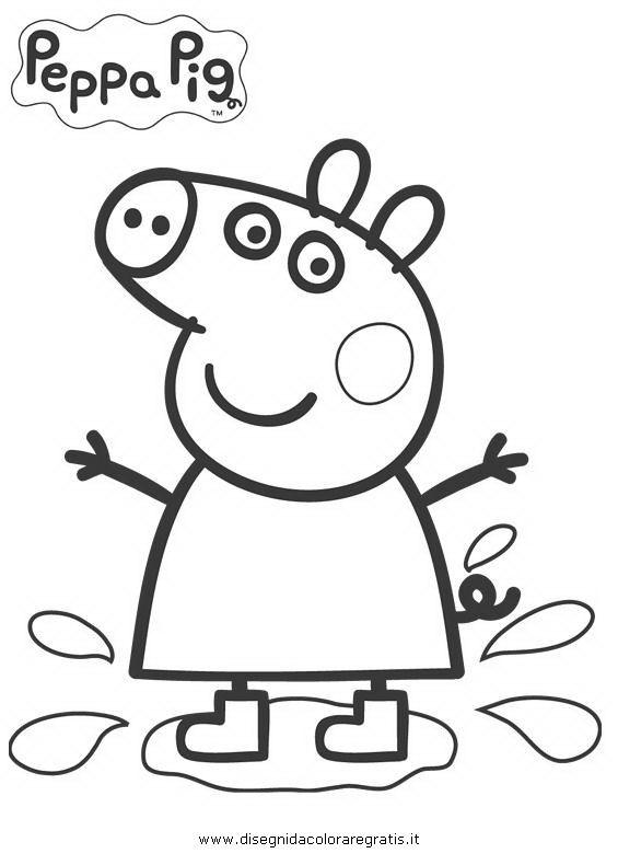 10 best images about disegni da stampare e colorare on for Immagini peppa pig da colorare