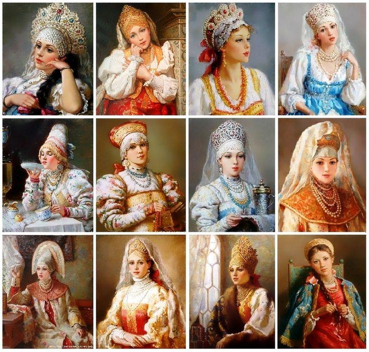 ❀Russian ladies in painting - Vladislav Nagornov, Russian artist