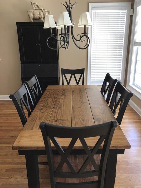 farmhouse table in 2019 dining area farmhouse dining room table rh pinterest com