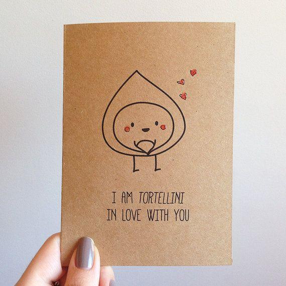 Tortellini Pun Cute Love Valentines Card By SubstellarStudio, $4.00 |  Valentines | Pinterest | Tortellini, Cards And Craft