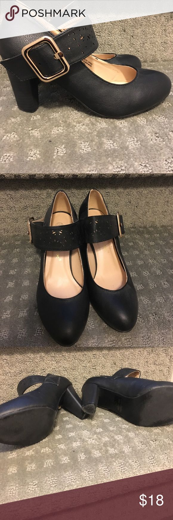Black Mary Jane heels worn once Cute and comfy Mary Jane heels worn once! I love them I'm just downsizing! Shoes Heels