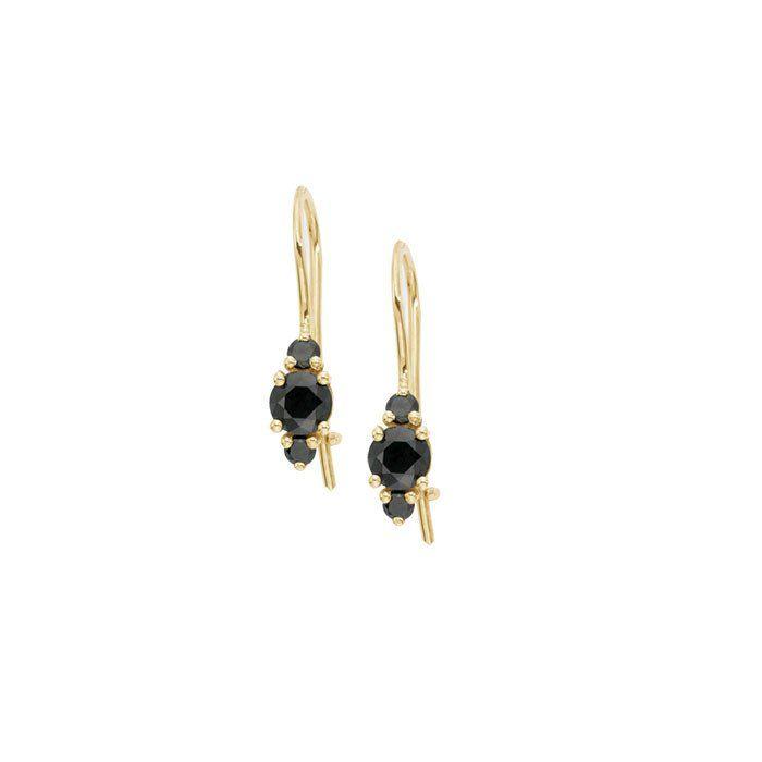 three stone earrings   blanca monrós gómez