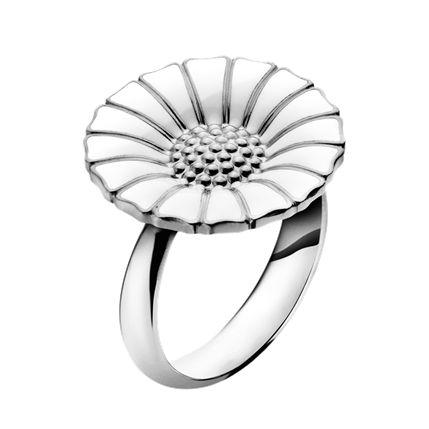 DAISY 純銀鍍銠戒指鑲嵌琺瑯