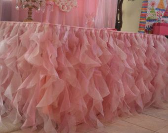 fluffy table skirt made with organza fabric perfect for your wedding or special party a