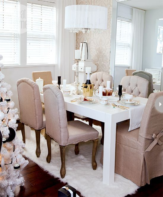 25 Inspiring Neutral Dining Room Designs With White