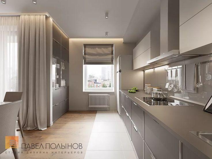Интерьер кухни-гостиной в квартире в жилом комплексе «Юбилейный квартал»