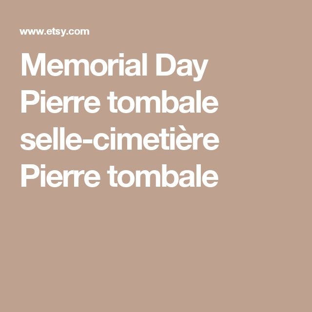 Memorial Day Pierre tombale selle-cimetière Pierre tombale