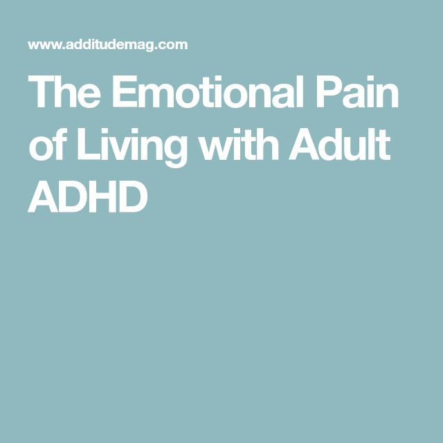 The Emotional Pain of Living with Adult ADHD