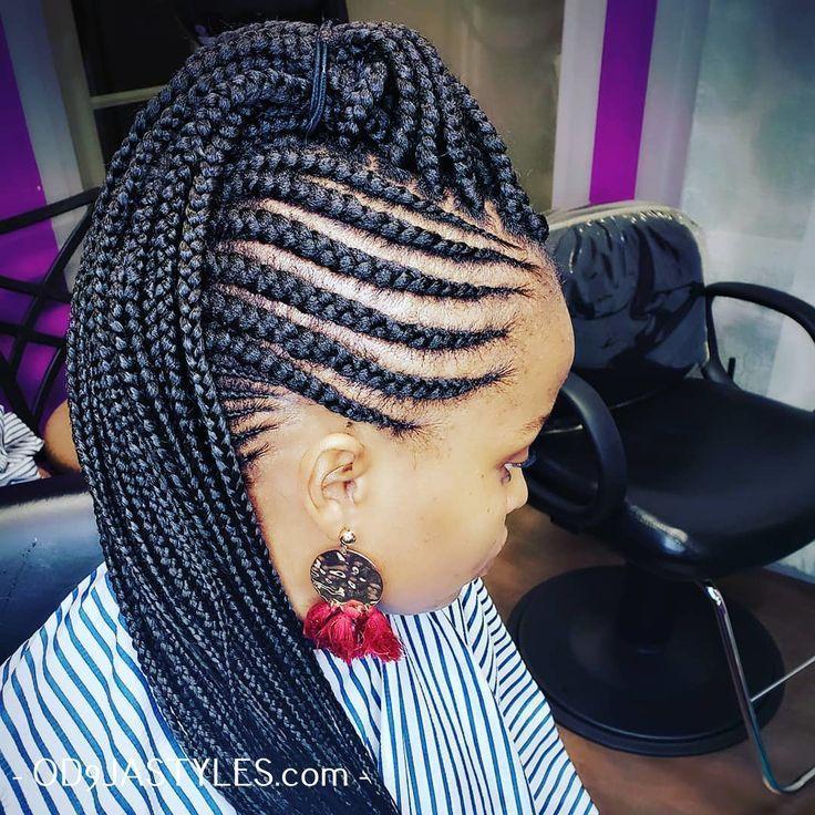 Geflochtene Frisuren Fur Schwarze Frauen Kreative Afrikanische Frisuren Fur 2020 Black Women Hairstyles Braided Hairstyles For Black Women Braided Hairstyles