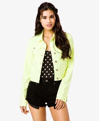 Neon Denim Jacket #Forever21 #Neon