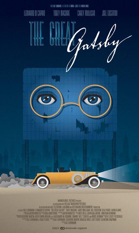 The Great Gatsby (2013) | stylized art poster