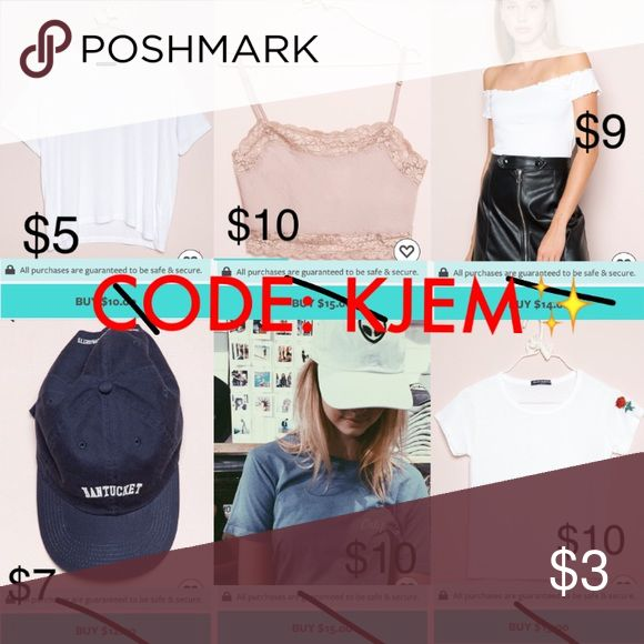 💫BUY BRANDY MELVILLE FOR CHEAPPP💫 Great way to get yourself some cheap Brandy Melville!!! This app is 100% authentic! The app is called DOTE, download it and start shopping at your favorite stores, use my code KJEM at checkout for $5 off! You can get so many Brandy Melville things for a great discounted price with free shipping if you use my code -- KJEM! I've gotten so many Brandy, Sephora, free people and lululemons from DOTE! 🤗 Brandy Melville Tops
