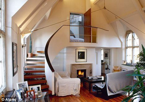 Stairway to heaven: A converted church with stairs leading to a loft room