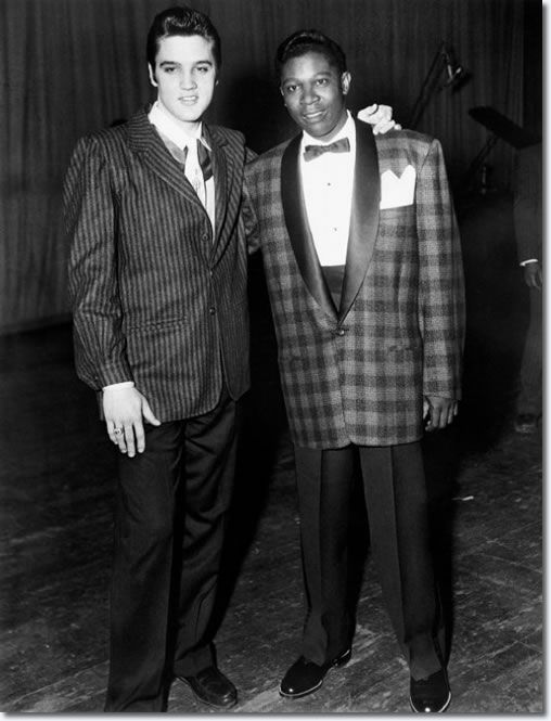 They both can fill my days with music, and it never gets old <3    Elvis Presley and B.B. King backstage at the WDIA Goodwill Revue at Ellis Auditorium on December 7, 1956.