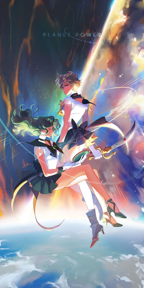 Planet Power by one pack on pixiv - Sailor Uranus and Neptune
