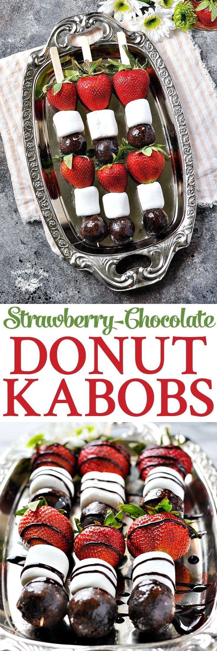 unique bridal shower appetizers%0A Strawberry Chocolate Donut Kabobs  Bridal Shower RecipesBridal