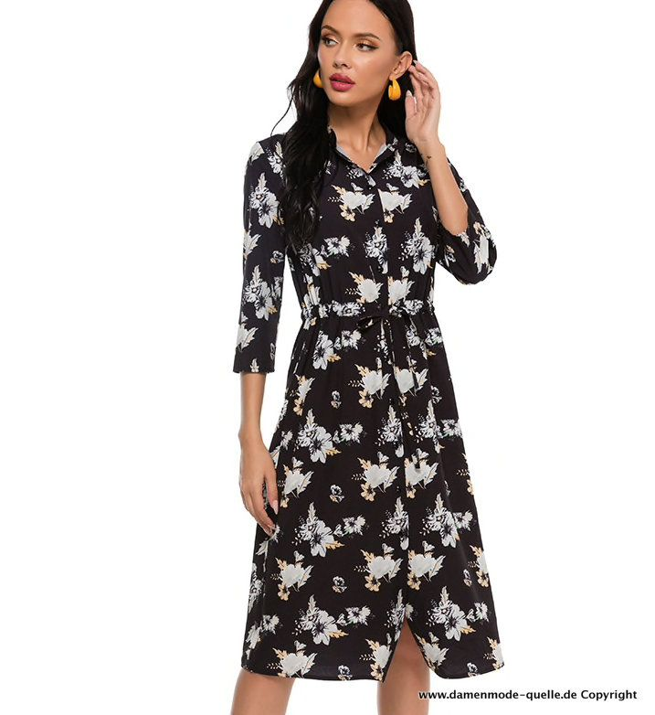 Kleider 2021 3 4 Arm Sommerkleid 2021 In Schwarz Mit Blumenmuster Wadenlang Damenmode Gunstig Online Kaufen In 2021 Sommerkleid Mode Damen Mode