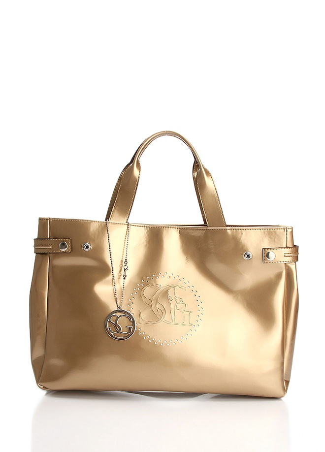 Golden Hand Bag by SERGIO GIORGIANNI @Markafoni