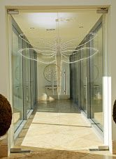 Our references- modern glass door with Swarovski Crystals #glassdoor #glasswall #glass #sklenenedvere #sklenenastena