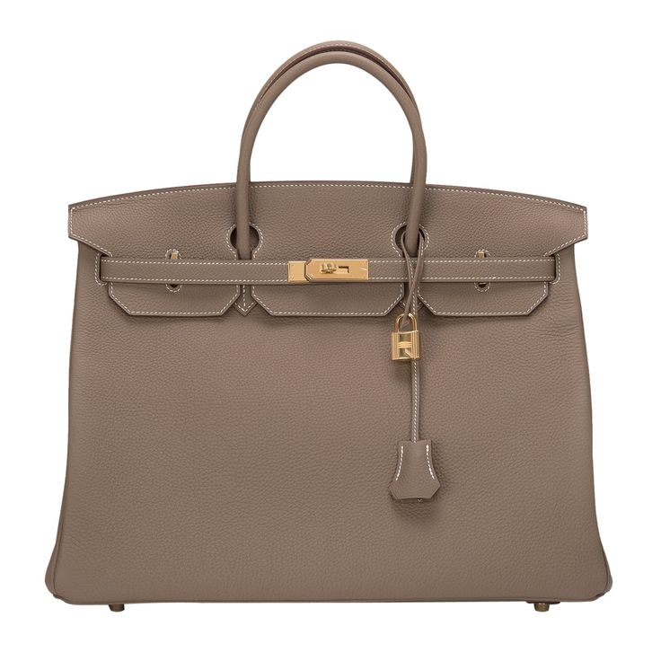 Hermes Birkin in Etoupe Togo leather with gold hardware, 40 cm ...