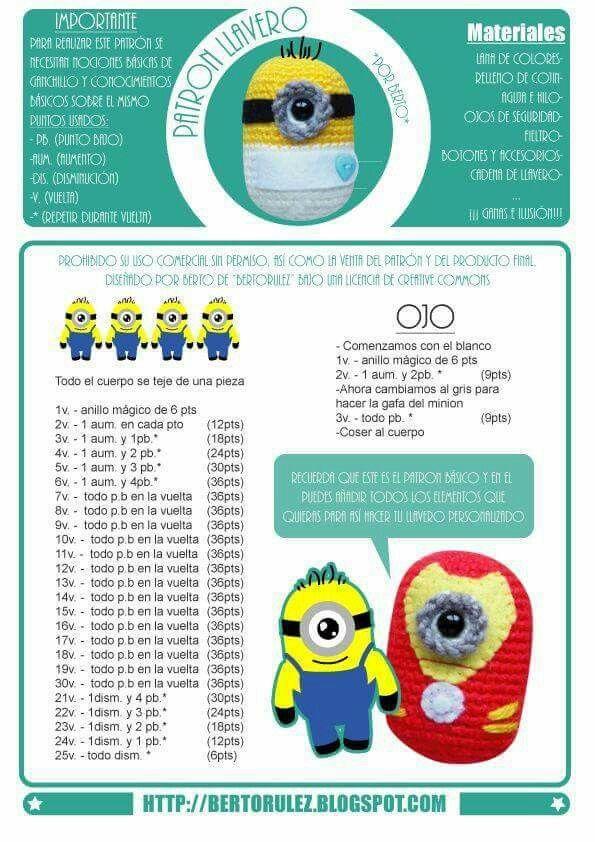92 best MINIONS images on Pinterest | Crochet patterns, Hand crafts ...