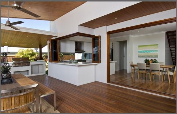 Stunning entertainment area! Love it. kitchen bay window