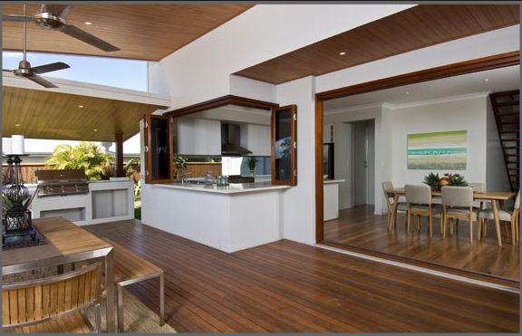 Stunning entertainment area! Love it. kitchen bay window