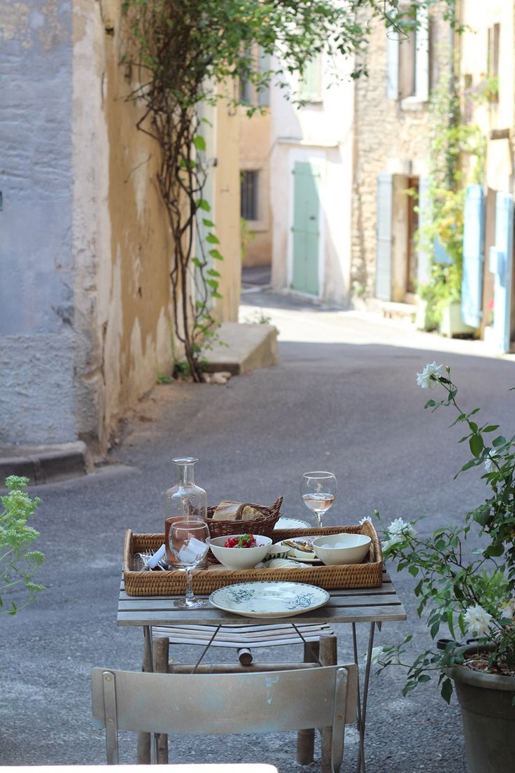 Picnic in the village--France: