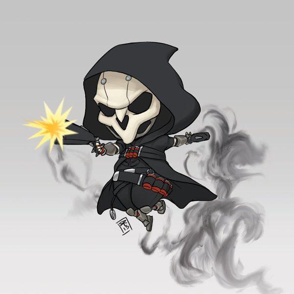 ArtStation - Chibiwatch Reaper - Overwatch FA, Yvonne Chung