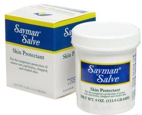 Sayman Salve 4 oz (2 Pack) Skin Protectant Cuts Burns Chapped Chafed Rashes SPF4 #Sayman
