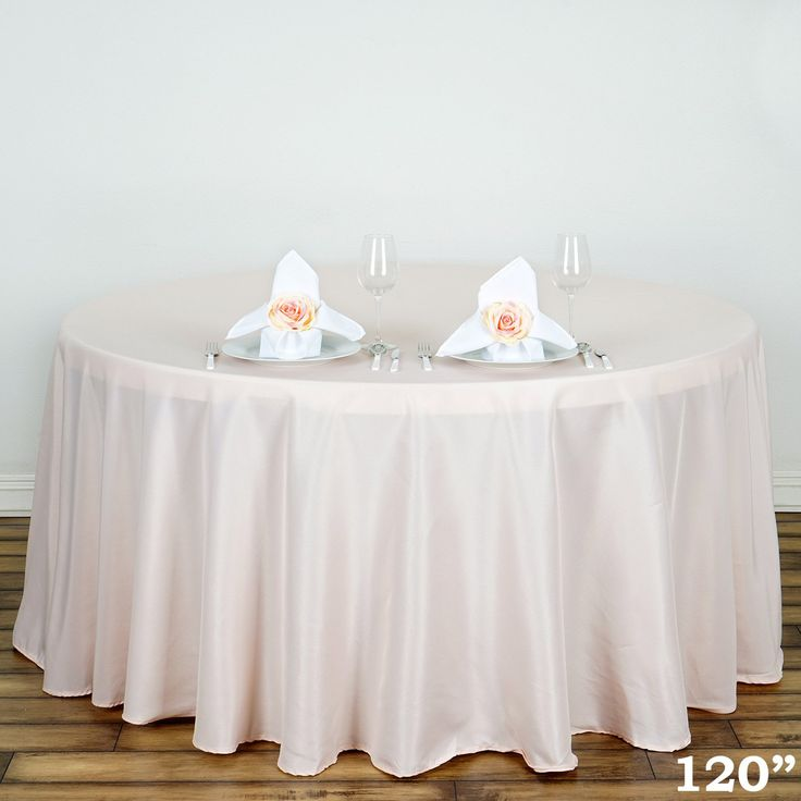 "blush 120"" round tablecloth"