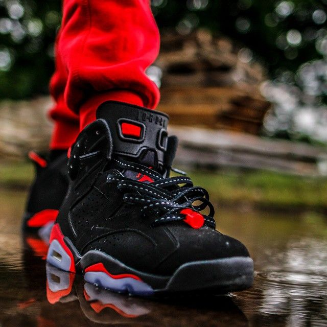 Laced Up Laces | Air Jordan 6 Retro Black Infrared | By. @johnny_banana83